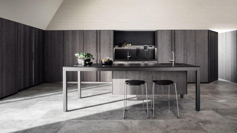 Banco Graphite Oak kitchen