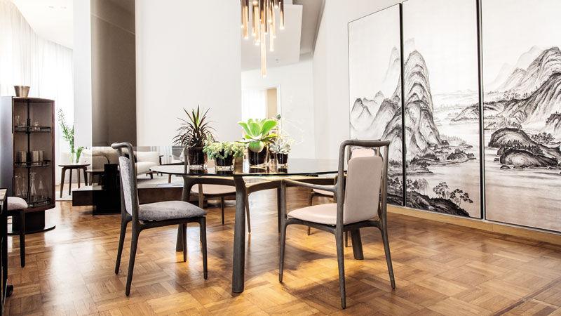 Table Memos et chaises Ibla