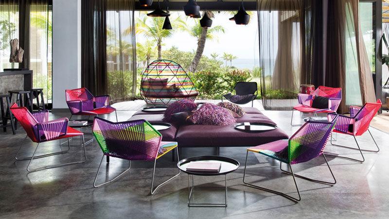 Dormeuse et petits fauteuils Tropicalia