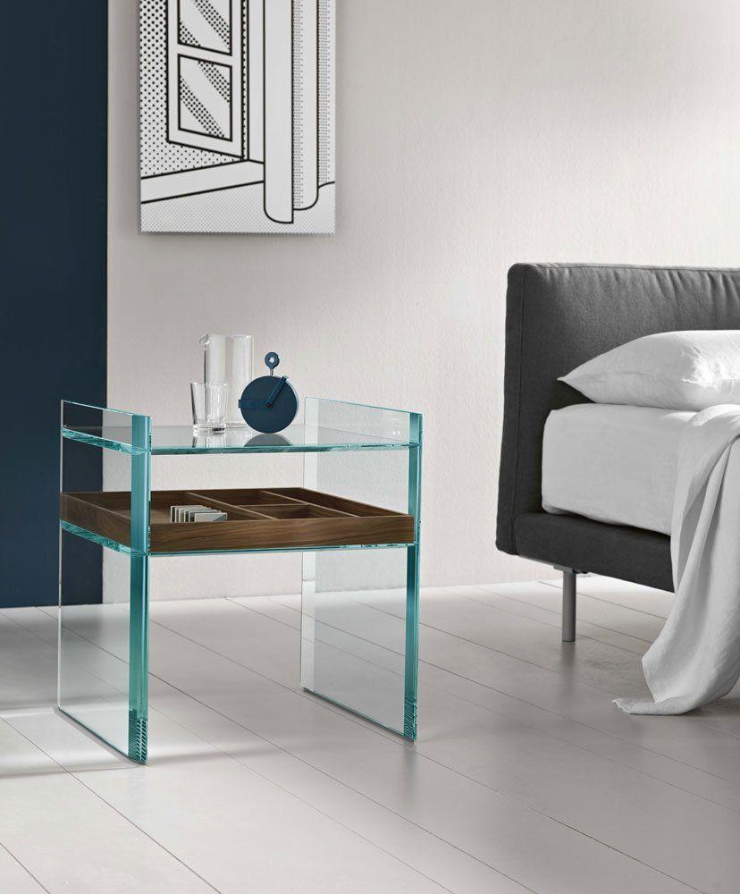 tonelli design nachttische nachttisch quiller designbest. Black Bedroom Furniture Sets. Home Design Ideas
