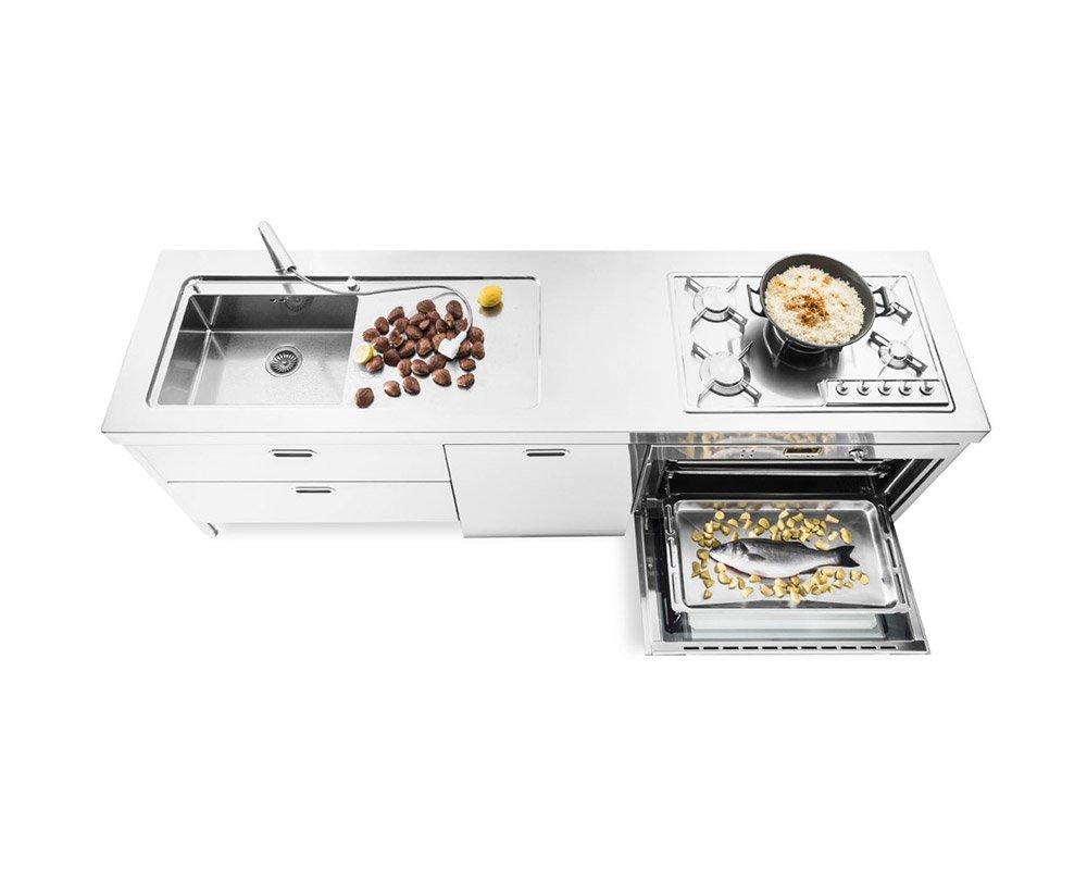 Cucina 250 a da alpes inox designbest - Cucina freestanding ...