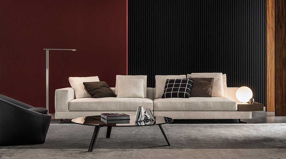 Four seater sofas sofa white by minotti for Minotti divani