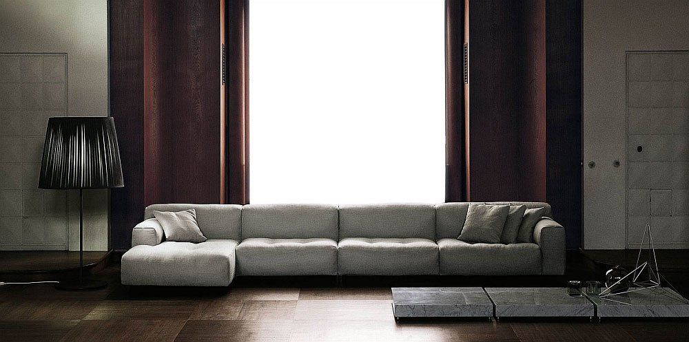 Three seater sofas divano softwall by living divani for Living divani softwall
