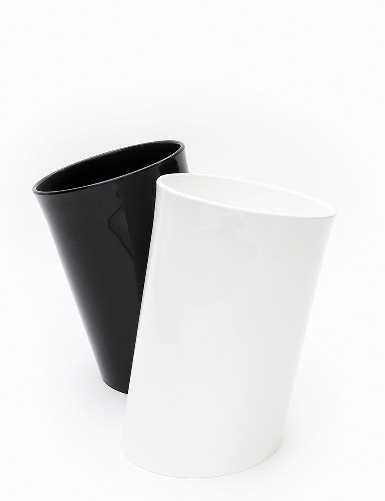 wastepaper basket bins wastepaper basket in attesa by danese. Black Bedroom Furniture Sets. Home Design Ideas