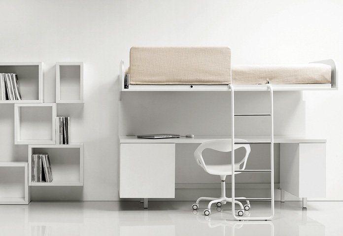 Letto tommi e jerri con scrivania avanguardia arredamenti for Letti design occasioni