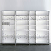 Bookshelf Aluminium Regal