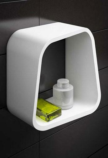 Mensole in bagno mensola bagno in acciaio cromato e vetro for Mensole doccia ikea