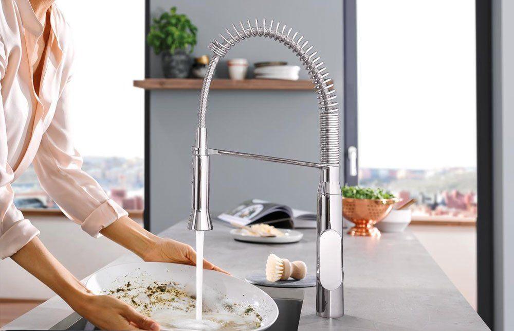 grohe armaturen f r die k che k chenarmatur k7 foot control designbest. Black Bedroom Furniture Sets. Home Design Ideas