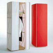 Garderobe Folien-Schrank 385