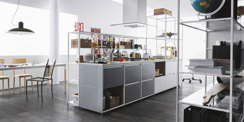 Freestanding Kitchens: Kitchen Meccanica [A] by Valcucine