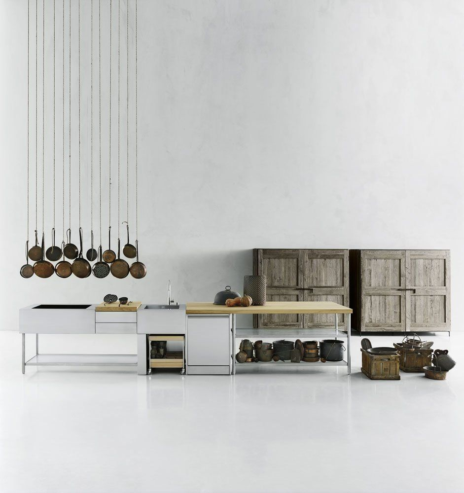 Self contained kitchens and islands kitchen open by boffi for Open design furniture