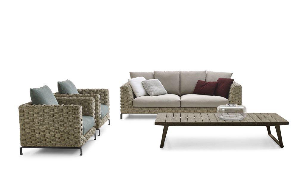 B&B Italia Gartensofas Sofa Ray Outdoor Natural | Designbest