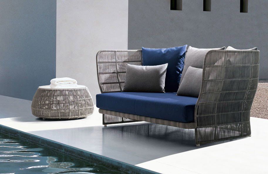Outdoor sofas sofa canasta 13 by b b italia for Divani b b