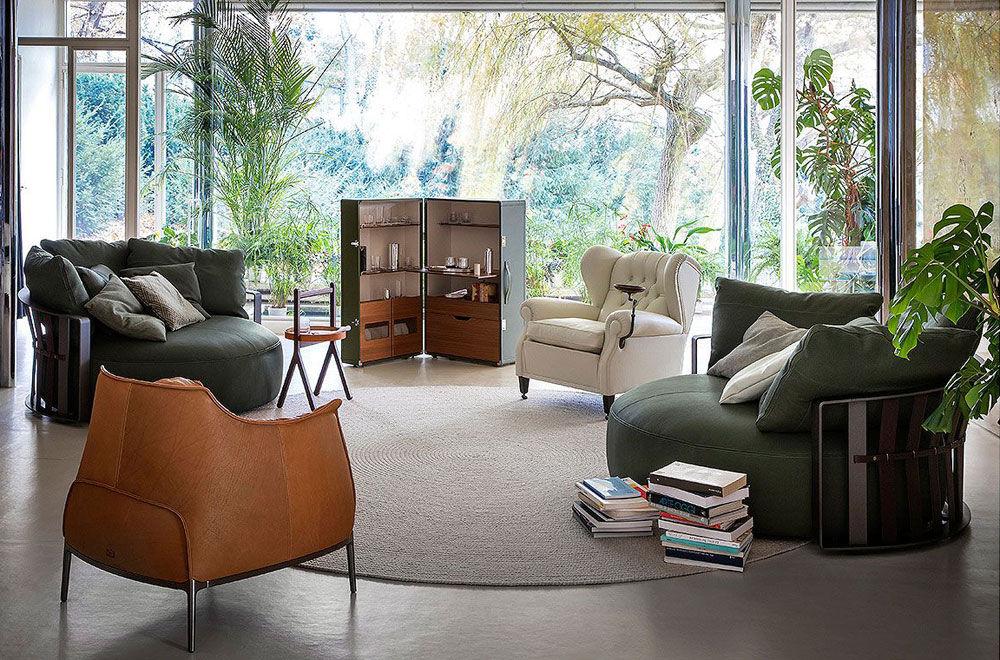 poltrona frau zwei sitzer sofas sofa scarlett designbest. Black Bedroom Furniture Sets. Home Design Ideas