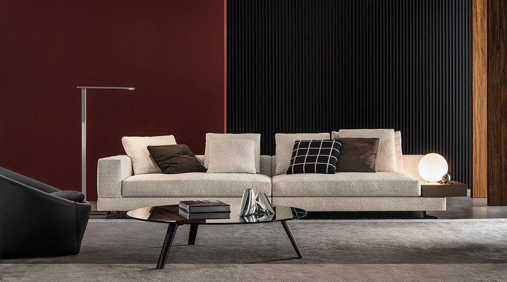 Four seater sofas sofa white by minotti for Divani minotti