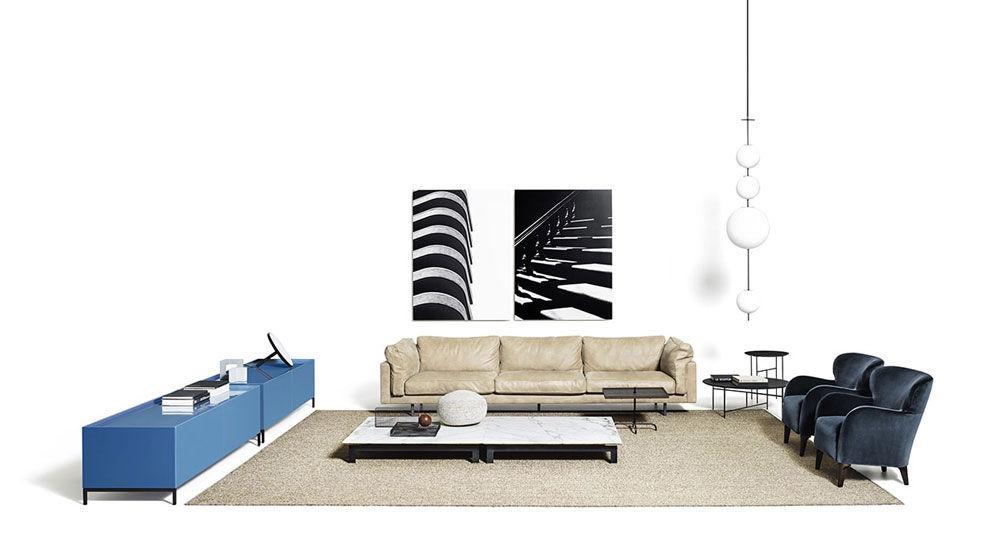 Three-Seater Sofas: Sofa Square 16 by De Padova