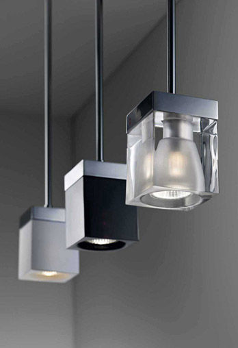 Luminaire Cubetto Black Glass