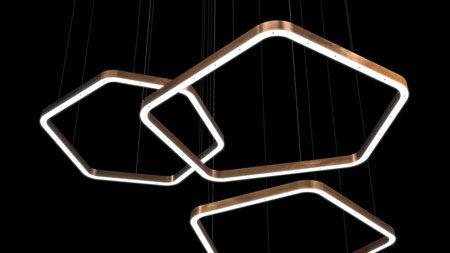 Lampada Light Ring Horizontal Polygonal