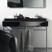 Lavabo avec console Vero Black