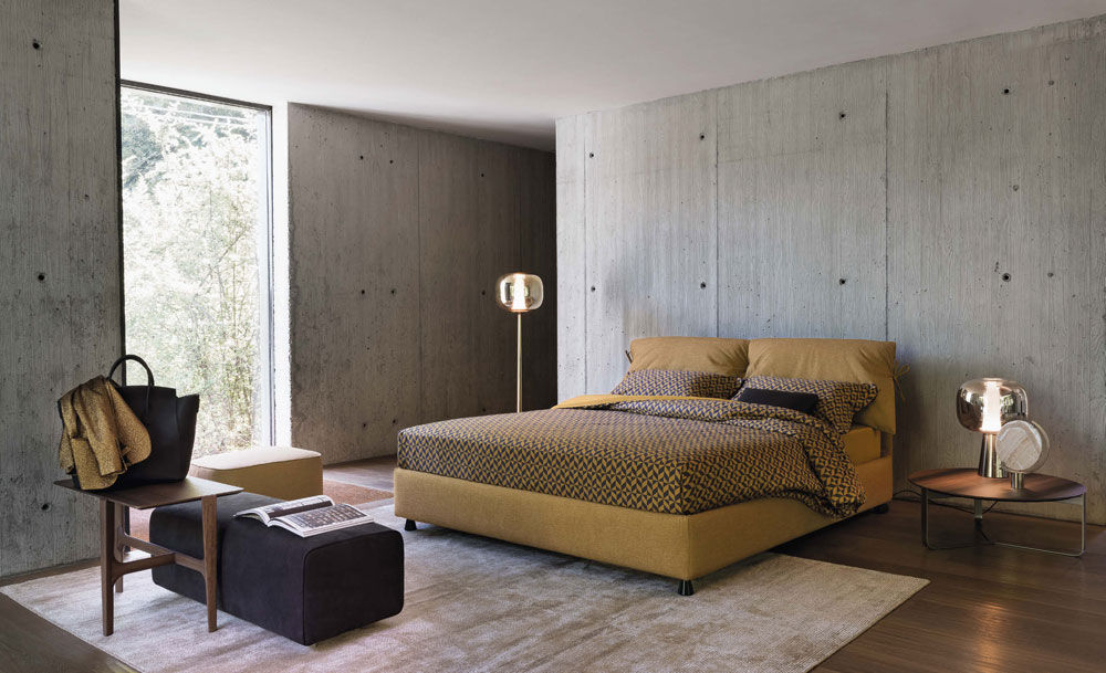 Letto Matrimoniale Flou Tadao.Double Beds Bed Nathalie By Flou