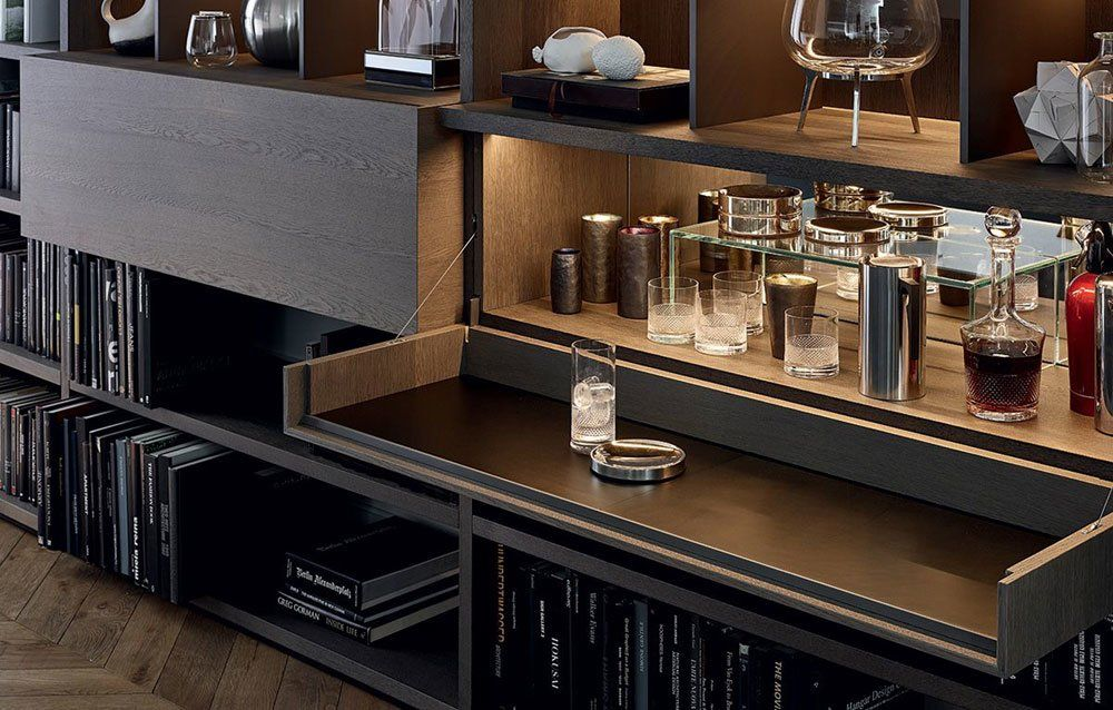 Bookcases And Shelving Units: Bookcase Wall System by Poliform