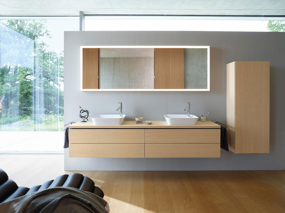 Washbasin Cabinets: Set L-Cube by Duravit
