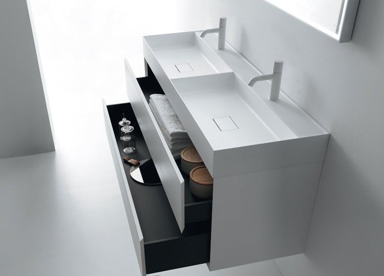 Washbasin cabinets: set quattro.zero by falper