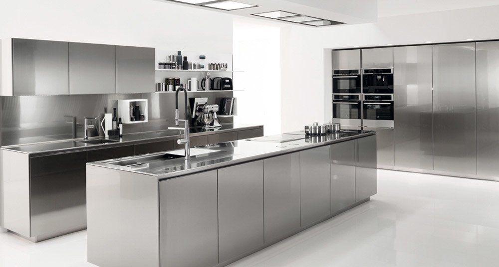 Euromobil Küchenmöbel Küche Free Steel Multisystem   Designbest