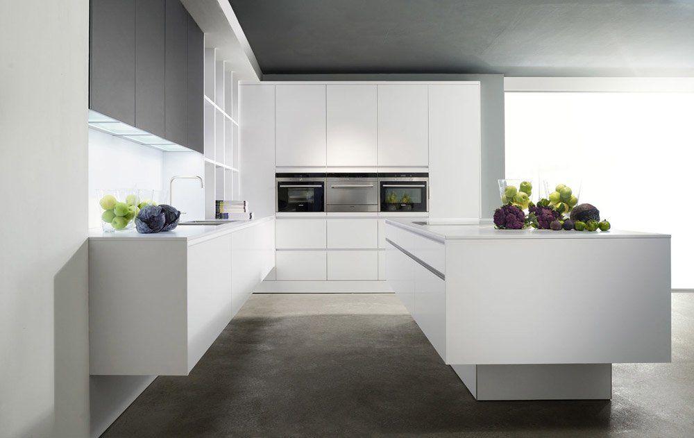 Eggersmann Küchenmöbel Küche Modern Laminat Reinweiss | Designbest