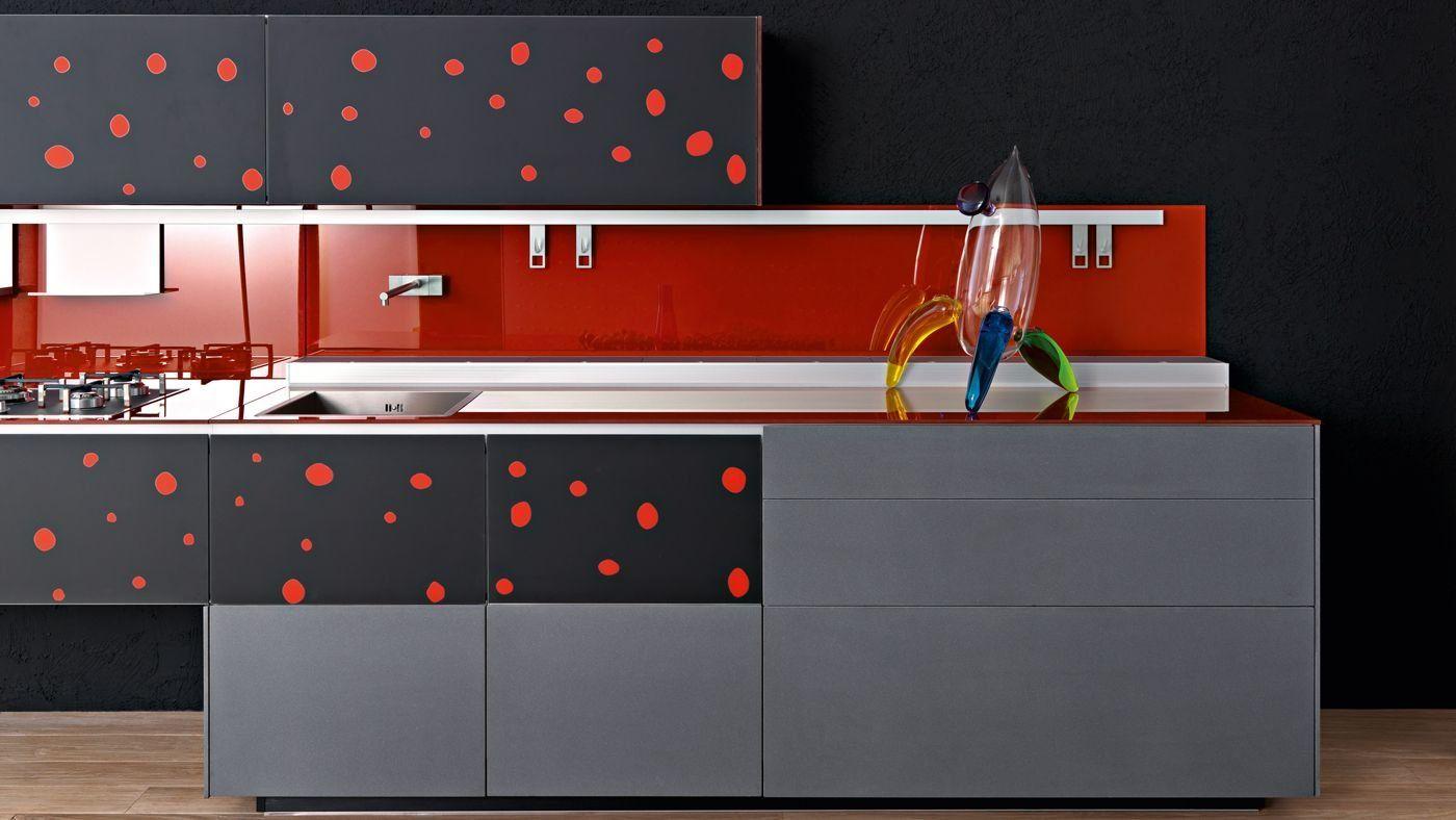 Modular Kitchens: Kitchen Artematica Vitrum Arte [A] by Valcucine