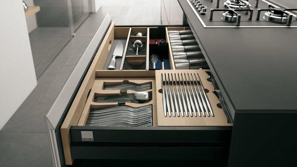 Modular Kitchens: Kitchen Artematica Vitrum [G] by Valcucine
