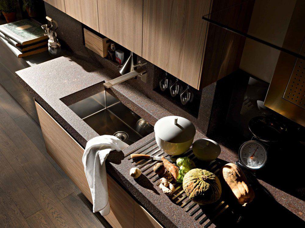 Cucina Artematica Noce Tattile