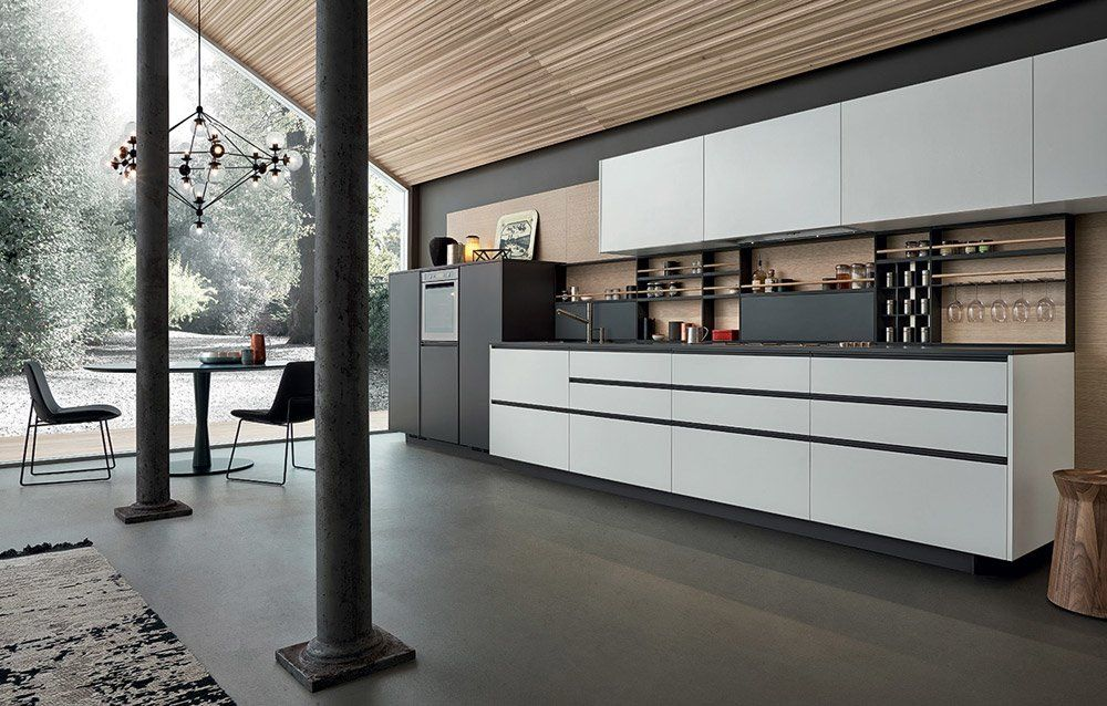 Modular Kitchens: Kitchen My Planet [C] by Varenna Poliform