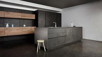 Küche Beton Altholz