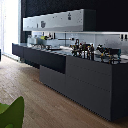 Küche Artematica Vitrum Arte Mucca