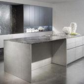 Küche  Modern Edelstahl Silvertouch