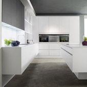 Kitchen  Modern Laminat Reinweiss