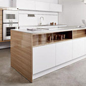 Küche Modern Edelstahl-Ulme