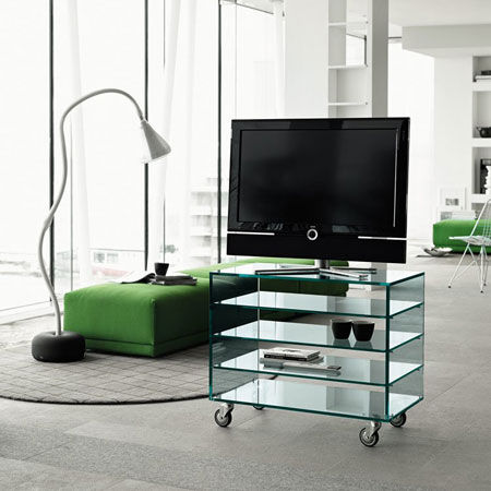 Design tv möbel glas  TV- Und Hifi-Möbel Glas - Designbest