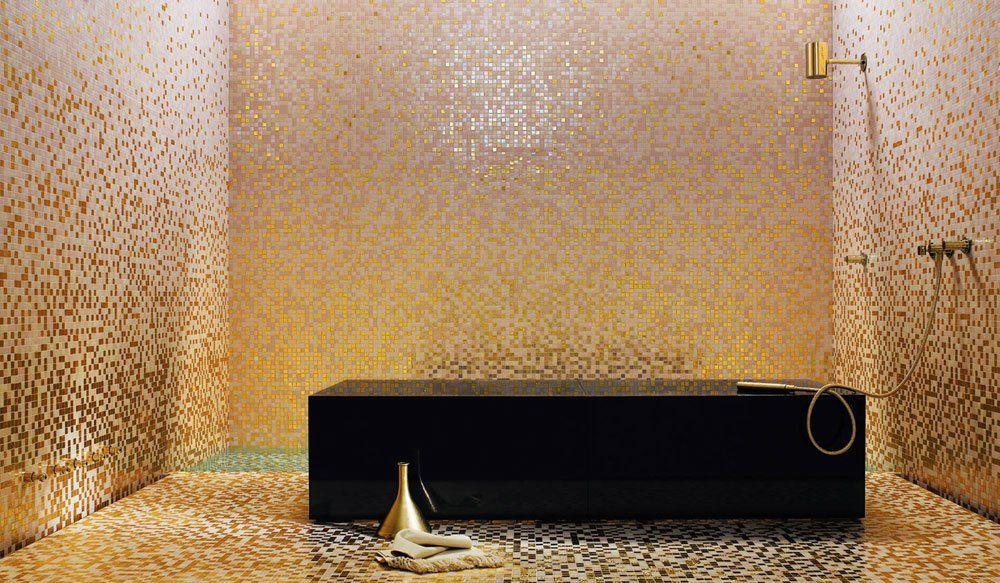 Mosaico sfumature peonia da bisazza designbest