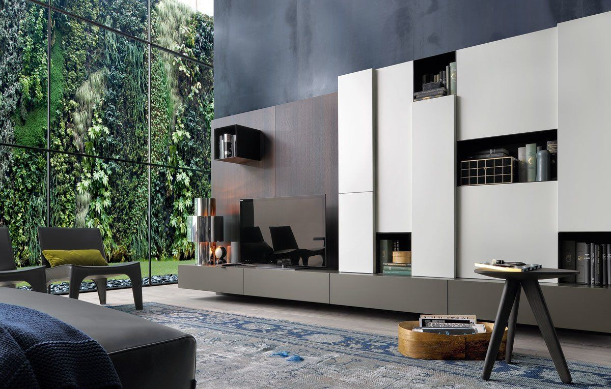 Wall systems set sintesi by poliform for Immagini pareti attrezzate