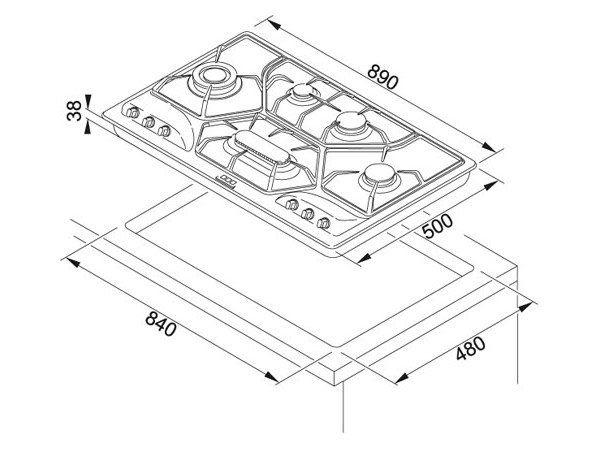 Piano cottura POC 6 AL 3GAV-D-O