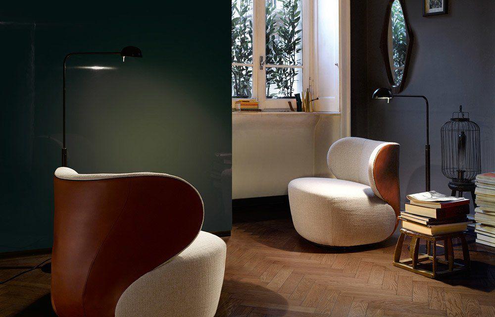 Catalogue Petit Fauteuil Bao Walter Knoll Designbest - Petit fauteuil cuir design