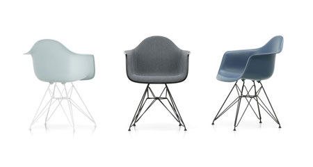 Kleiner Sessel Eames Plastic DAR