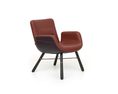 Petit fauteuil East River Chair Leather