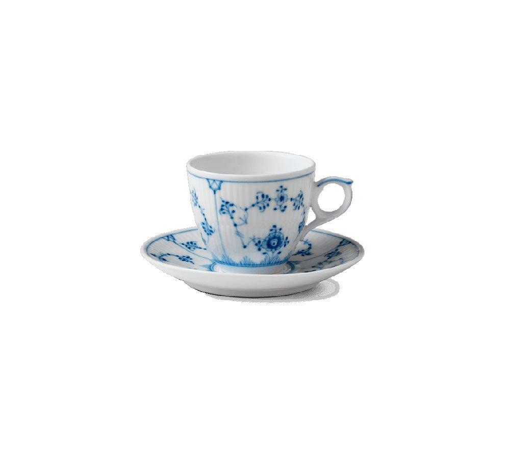 Servizio caffè Blue Fluted Plain