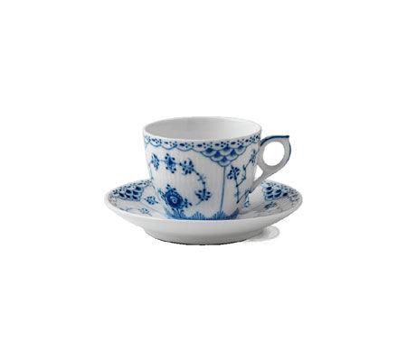 Servizio caffè Blue Fluted Half Lace