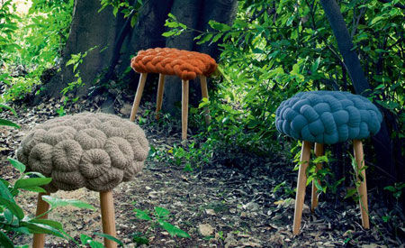 Tabouret Knitted