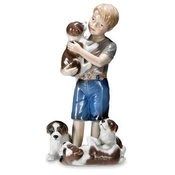 Statuetta Bimbo con cuccioli