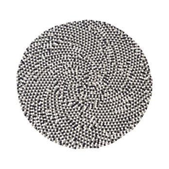 Teppich Confetti black / white